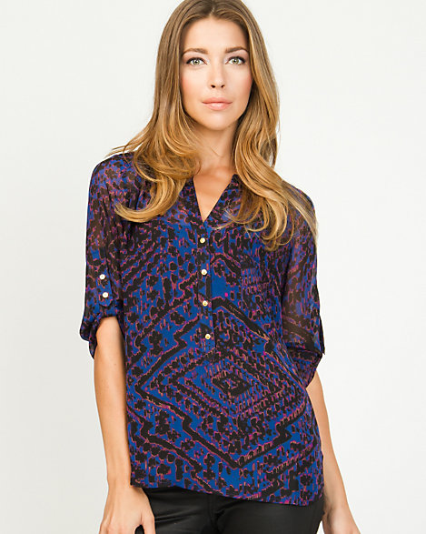 Chiffon Abstract Print Blouse