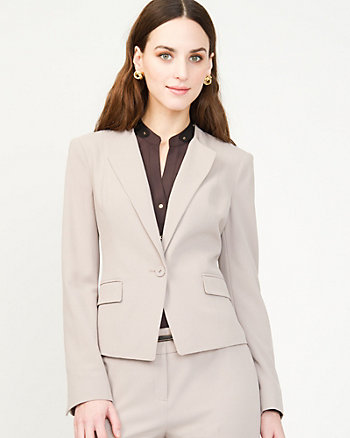 Crêpe Fitted Blazer