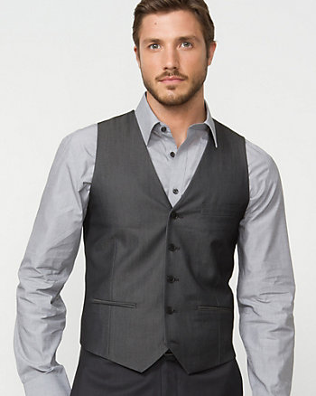 Sharkskin Contemporary Fit Vest