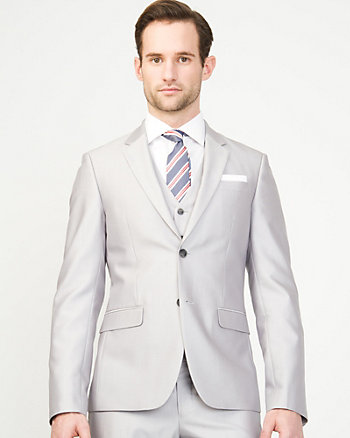 Shiny Herringbone City Fit Blazer