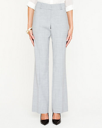 Wool Blend Flared Pant