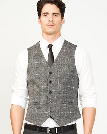 Knit Check Contemporary Fit Vest