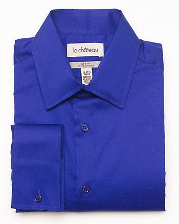 Cotton Sateen Slim Fit Dress Shirt