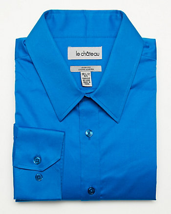 Stretch Sateen Slim Fit Dress Shirt