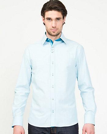 Stripe Cotton Blend  Shirt
