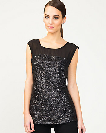 Sequin Illusion Knit Top