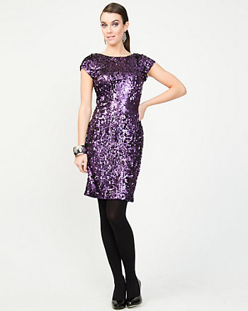 All-over Sequin Cocktail Dress