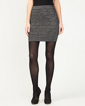 Metallic Knit Mini Skirt