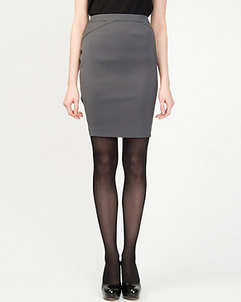Dull Satin Mini Skirt