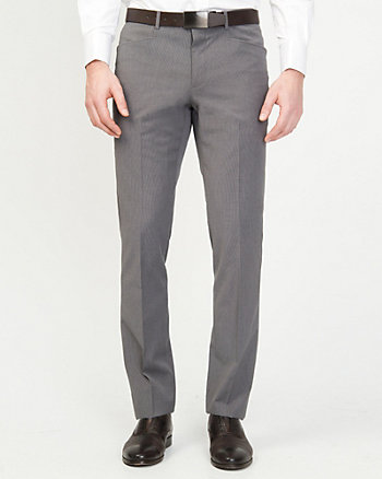 Wool Blend Slim Fit Pant
