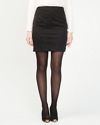 Jacquard Check Print Skirt