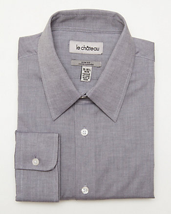 Cotton Tonal Tailored Shirt
