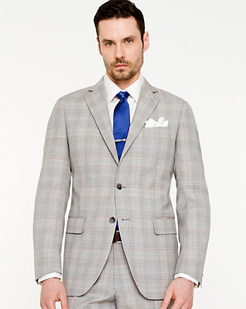 Wool Check Print Blazer