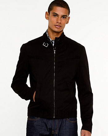 Cotton Twill Motorcycle Jacket