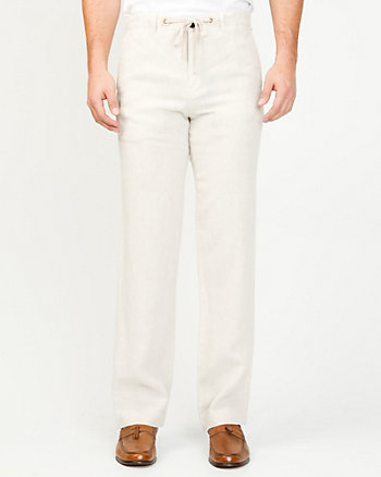 Pantalon de lin à jambe droite