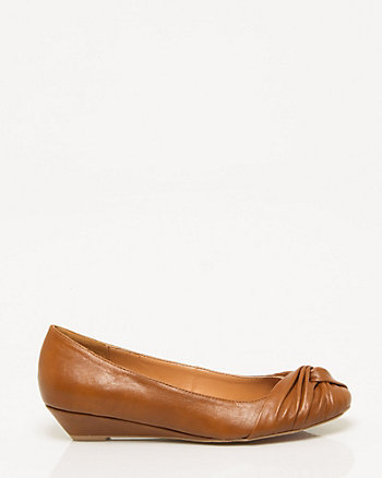 Leather-Like Low Wedge