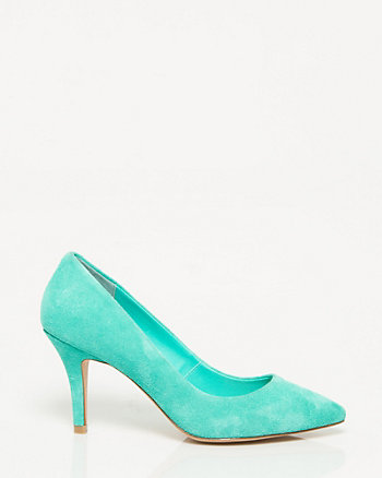 Suede Pointy Toe Pump