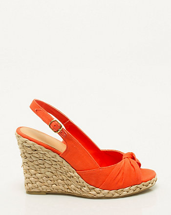 Canvas Open Toe Espadrille