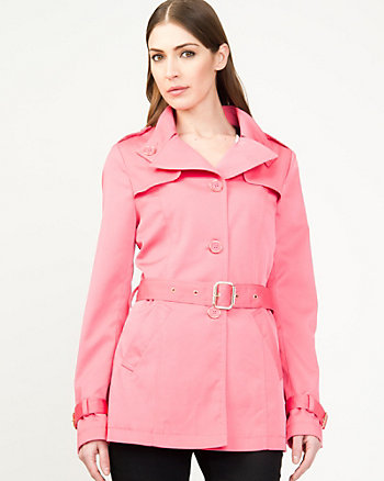 Notch Collar Trench Coat