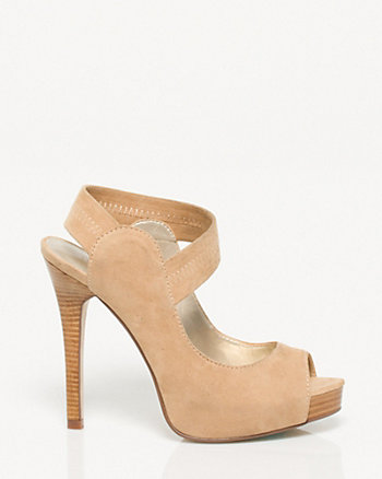 Suede-like Strappy Platform Pump