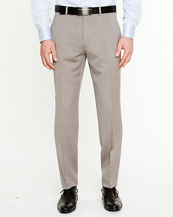 Pantalon à jambe droite en mélange de laine