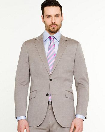 Stripe Wool Blend Contemporary Fit Blazer