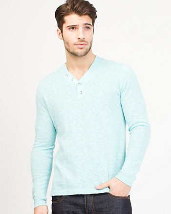 Henley Neck Sweater