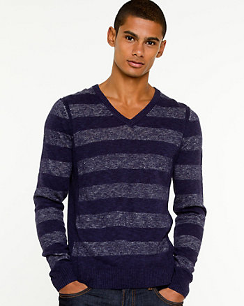 Linen Blend Stripe Sweater