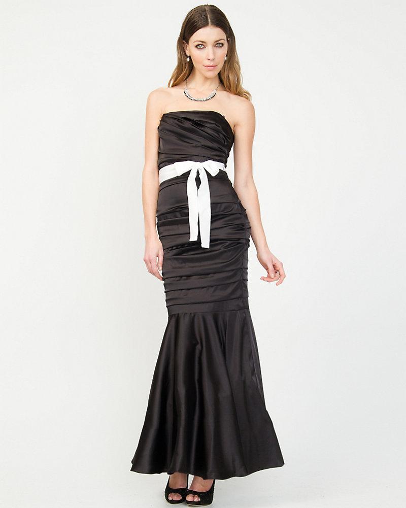 Stretch Satin Mermaid Gown | LE CHÂTEAU
