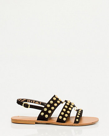 Leather Gladiator Stud Sandal