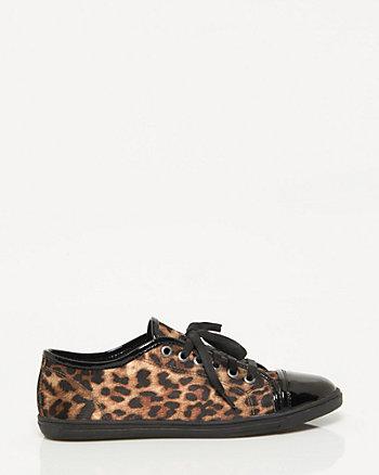 Leopard Satin Sneaker