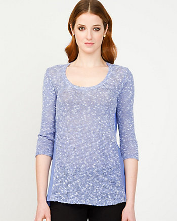 Textured Scoop Neck Sweater