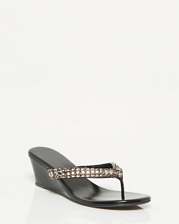 Metallic Wedge Sandal