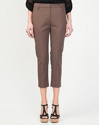 Double Weave Slim Fit Crop Pant