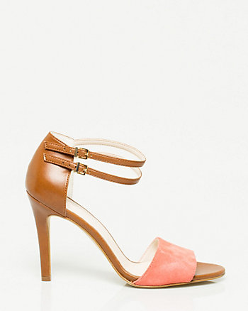 Suede Ankle Cuff Sandal