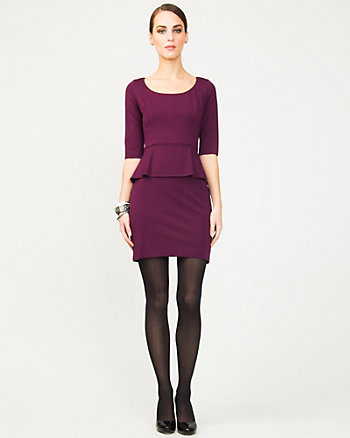 Ponte Peplum Cocktail Dress