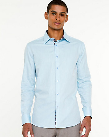 Iridescent Cotton Euro Fit Shirt