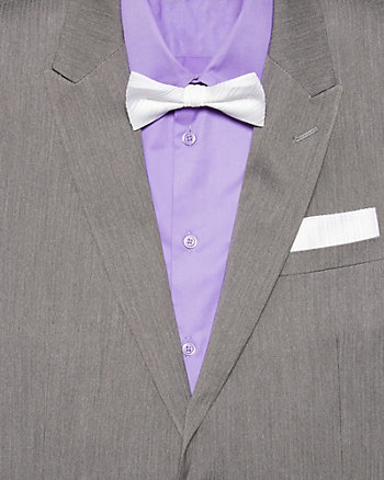 Tonal Stripe Bow Tie Set