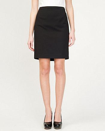 Cotton Blend Pencil Skirt