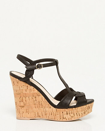 T-Strap Wedge Sandal