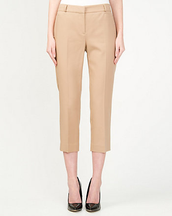 Cotton Blend Crop Pant