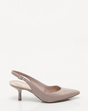 Patent Pointy Toe Slingback Pump
