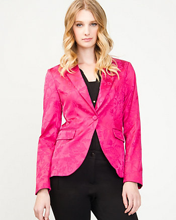 European Fit Jacquard Blazer