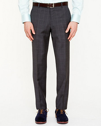 Wool Tapered Leg Pant