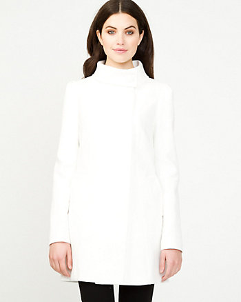 Washed Cotton Asymmetrical Coat