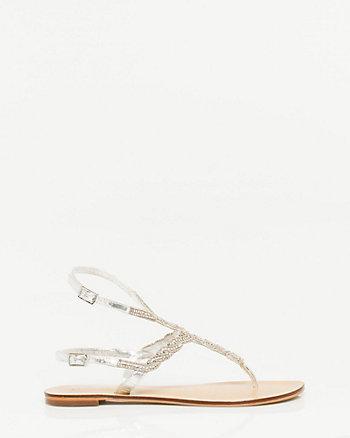 Jewel Encrusted Flat Sandal