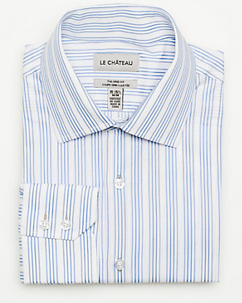 Cotton Mixed Media Tailored Fit Shirt