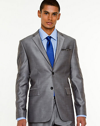 Shiny Piqué Contemporary Fit Blazer