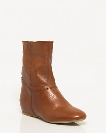 Italian Made Leather Ankle-Boot
