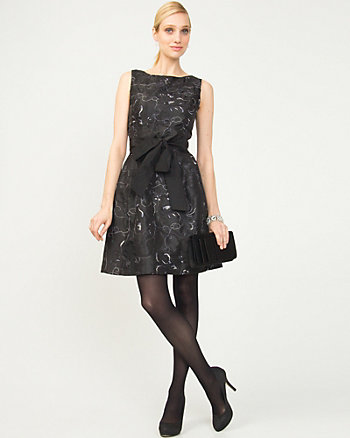 Taffeta Fit & Flare Dress